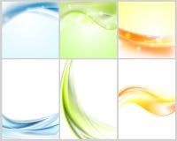 Bright shiny wavy backgrounds Stock Photo