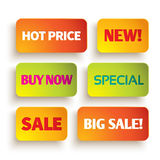 Bright shopping labels Royalty Free Stock Images