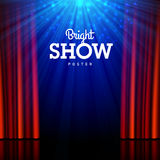 Bright show poster design template Royalty Free Stock Photos