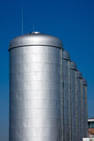 Bright silver tanks Stock Images