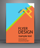Bright simple flyer for your business. Bright simple vector flyer for your business Royalty Free Stock Photo