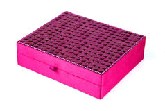 Bright simple magenta box for make-up, jewelry, decorations Royalty Free Stock Photography