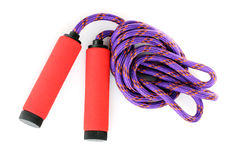 Bright skipping rope isolated Royalty Free Stock Images