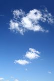 Bright sky background. With beautiful cumulus clouds stock photography