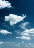 Bright sky with clouds as background Royalty Free Stock Image