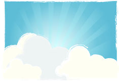 Bright sky vector Stock Photography