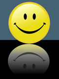 Bright Smiley Happy Face Reflects Stock Photography