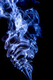 Bright smoke abstract photo, isolated on black background Stock Photos