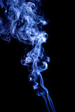 Bright smoke abstract photo, isolated on black background Royalty Free Stock Photos