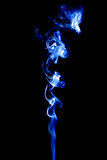 Bright smoke abstract photo, isolated on black background Stock Photo