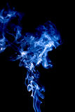 Bright smoke abstract photo, isolated on black background Royalty Free Stock Image