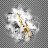 Bright, smoke and saxophone transparent shine Stock Photography