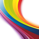 Bright smooth rainbow colorful waves template Royalty Free Stock Photo