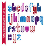 Bright smooth retro geometric characters set, colorful vector ro Stock Image