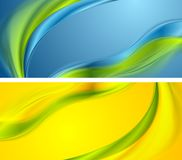 Bright smooth waves banners design Royalty Free Stock Images