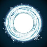 Bright Snowflake Christmas Background Stock Photography