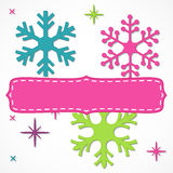 Bright snowflakes frame Royalty Free Stock Photography
