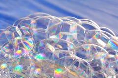 Bright soap bubbles Royalty Free Stock Photos