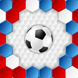 Bright soccer background with ball. French colors Stock Photo