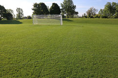 Bright Soccer Field Royalty Free Stock Image