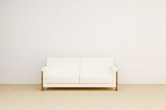 Bright sofa in the room Stock Photography