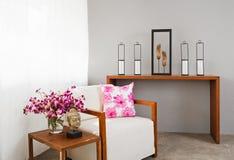 Bright sofa seat in luxury interior decoraton Royalty Free Stock Image