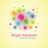 Bright solution (background from spirals). Bright solution (background from color spirals). Vector Illustration Stock Photos