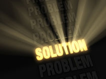 Bright Solution in a Row of Problems Royalty Free Stock Images