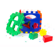 Bright sorter toy. Isolated on white background sorter Royalty Free Stock Image