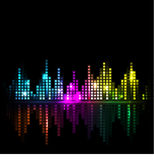 Bright sound wave or cityscape background Royalty Free Stock Photos