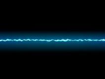 Bright sound wave on a dark blue. Stock Photo