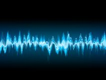 Bright sound wave on a dark blue. EPS 10 Stock Photos