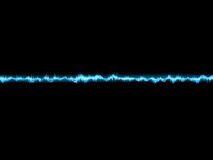 Bright sound wave on a dark blue. EPS 10 Stock Photography
