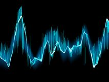 Bright sound wave on a dark blue. EPS 10 Stock Images