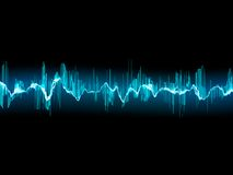 Bright sound wave on a dark blue. EPS 10 Royalty Free Stock Photo