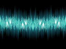 Bright sound wave on a dark green. EPS 10 Stock Images