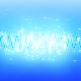 Bright Sound Waves Background Royalty Free Stock Photos