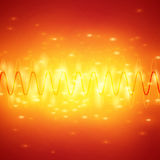 Bright Sound Waves Background Royalty Free Stock Image