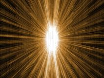 Bright space explosion in black space Royalty Free Stock Image