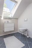 Bright space - toilet area Stock Photography