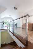 Bright space - two-floored interior Stock Images