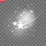 Bright sparkles, flashes of golden, stock illustration