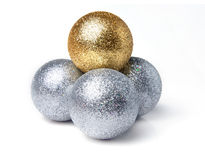 Bright sparkling Christmas ball Royalty Free Stock Image