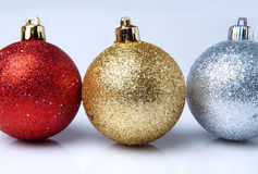 Bright sparkling Christmas ball Royalty Free Stock Images