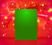 Bright and sparkling Christmas page layout with pl Royalty Free Stock Images