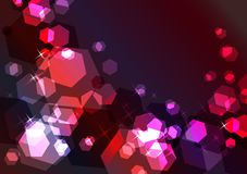 Bright sparkling festive background. With red and violet glow Royalty Free Stock Photography