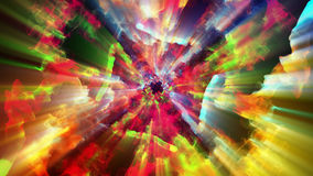 Bright and sparkling particles, 3d illustration. 3d illustration on the abstract theme of beautiful particles Stock Photography
