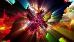 Bright and sparkling particles, 3d illustration. 3d illustration on the abstract theme of beautiful particles Royalty Free Stock Photography