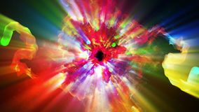 Bright and sparkling particles, 3d illustration. 3d illustration on the abstract theme of beautiful particles Royalty Free Stock Photos