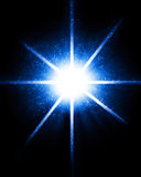 Bright sparkling star Stock Photography
